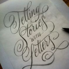 'Telling Stories with Letters' by Martina Flor