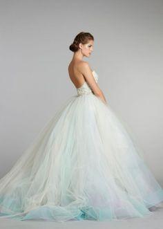 Wisteria tulle ball gown Lazaro | lazaro bridal fall 2012 3269 (wisteria) side.