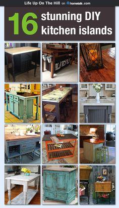 Diy Kitchen Island Ideas diy kitchen island from stock cabinets | diy home | pinterest