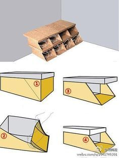 oh that is so smart! turning your shoeboxes into a sort of shoe shelf DIY