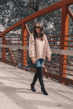 9072ef301aaede Perfect winter outfit. Knee High Boots