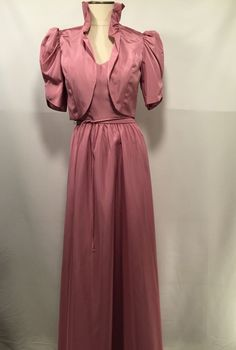 Vintage 80'S Sz 11-12 Pink Bridesmaid Party Prom Dress Ball Gown Southern Bel... #UnionMade #EveningOccasion
