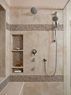 Tile Bathroom Shower Design - Your bathroom is a wonderful place to unleash all of your interior design ideas. Bathroom Renos, Bathroom Renovations, Bathroom Ideas, Bathroom Designs, Bathroom Organization, Bathroom Makeovers, Budget Bathroom, Shower Tile Designs, Rental Bathroom
