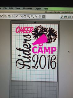 Rider Cheer Camp Design. I Forgot To Take Pics Of The Shirts When They Were  Done. #SugarMaplesStudio #cheershirts #cheercamp