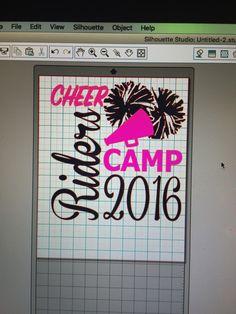 Rider cheer camp design. I forgot to take pics of the shirts when they were done. #SugarMaplesStudio #cheershirts #cheercamp
