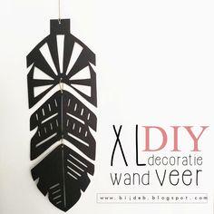 bijdeb: XL wand decoratie veer
