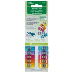 Clover Wonder Clips 10 pieces and Mini Wonder Clips 20 pieces value Bundle, Red Sewing Tutorials, Sewing Projects, Quilt Binding, Block Of The Month, Types Of Craft, Altering Clothes, Fabric Strips, Order Up, Sewing Accessories