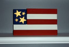 Wood Flag for Forth of July Decor by SuziShoppe on Etsy, $15.99