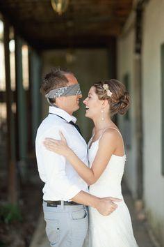 Ha ha!  No peaking at the bride!  #countrywedding