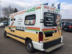 Camion magasin glaces gaufres