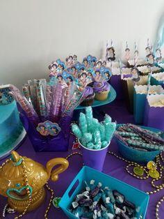 Aladdin and Princess Jasmine party activity ideas. Jasmine Birthday Cake, Aladdin Birthday Party, Princess Birthday Party Decorations, Aladdin Party, Disney Birthday, Baby Girl Birthday, Boy Birthday Parties, 5th Birthday, Jasmin Party