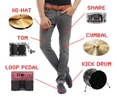 DrumPants are slim and unobtrusive and will allow you to jam pretty much anywhere, without having to lug real instruments around.