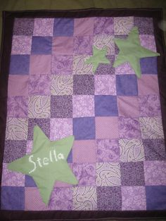 Custom order baby girl quilt Made by Heather Miller of Laundry Room Quilts