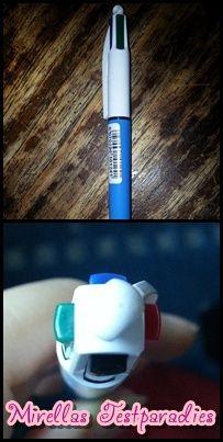 Außerdem bekamen wir von BIC noch einen tollen Kugelschreiber der gleich vier Farben beinhaltet.