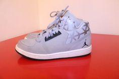 Nike Air Jordan Shoes 12C Wolk Gray Flight 3 Lace Up Boys Sneakers 707321-002  #NikeAirJordan #Athletic