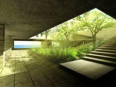 courtyard at CASA VERA | Veracruz by Alberto Kalach