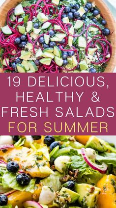 Summer is the best season for salads, you can make delicious and healthy fresh Salads for lunch or dinner time. Green Salad Recipes, Summer Salad Recipes, Salad Recipes For Dinner, Dinner Salads, Healthy Salad Recipes, Real Food Recipes, Delicious Recipes, Snack Recipes, Tasty