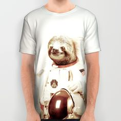 Sloth Astronaut All Over Print Shirt