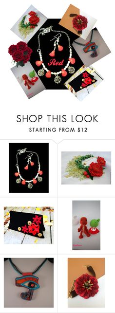 Red by mabellerosedesigns on Polyvore featuring мода
