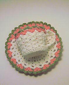 Crochet Tea Cup and Saucer