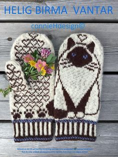 Hellig Birma pattern by Connie H Design, Double Knitting Patterns, Knitted Mittens Pattern, Knitting Paterns, Fair Isle Knitting Patterns, Knit Mittens, Knitted Gloves, Knitting Stitches, Knitting Yarn, Knitting Projects