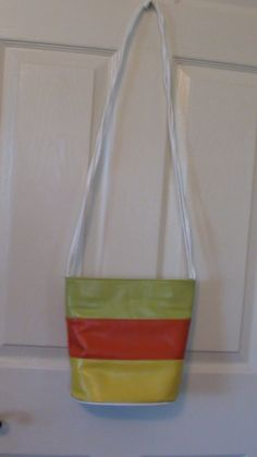Retro Gree Orange and Yellow Shoulder Bag by RareEarthProducts