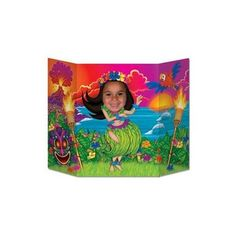 The Hula Girl Photo Prop helps transport guests to the shores of Hawaii - featuring your own hula darling. The Hula Girl Photo Prop features a hula girl complimented by a beautiful sunset. The photo prop is made out of cardboard and measures app Hawaiian Party Decorations, Garden Party Decorations, Hawaiian Theme, Hawaiian Luau, Luau Theme, Party Props, Party Themes, Party Ideas, Beach Photo Props
