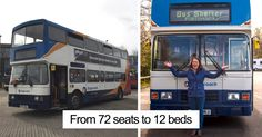 Woman Transforms Double-Decker Bus Into Shelter For Homeless, And Here's How It Looks From Inside | Bored Panda