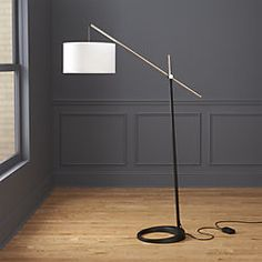 Overarching floor lamp can make of almost anything. The basic components are a base, tube or post where the lamp rod will go Glass Floor Lamp, Bronze Floor Lamp, White Floor Lamp, Arc Floor Lamps, Modern Floor Lamps, Modern Lighting, Edison Lighting, House Lighting, Vintage Lighting