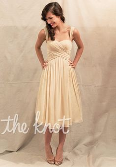 Bridesmaid dresses. Would look great in black or crimson red :) Dress features built-in bra for custom fit.