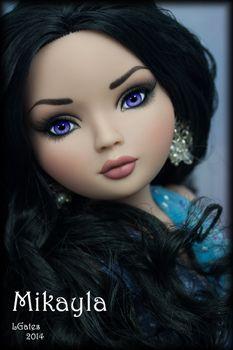 Ellowyne repaint by Lisa Gates Wistful Season OOAK Beautiful Barbie Dolls, Pretty Dolls, Cute Dolls, New Dolls, Ooak Dolls, Doll Face Paint, Girl Cartoon Characters, Polymer Clay Dolls, Anime Dolls