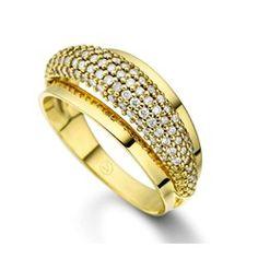 Anel Ouro Amarelo e Diamantes Volúpia Menor