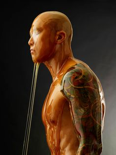 #Photography - Blake Little shoots honey covered humans for preservation series