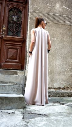 NEW Spring 2016 Maxi Dress / Powder Kaftan / by Aakasha on Etsy