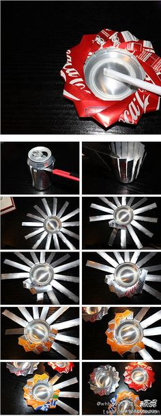 DIY Pop Can Ashtray-this is pretty clever. Could be used for other things too