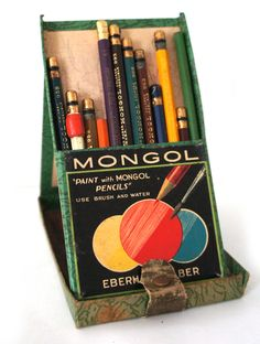 The super dope Mongol pencil case with it's fabric and snap closure folds out into a triangle.    (Photo RAH)