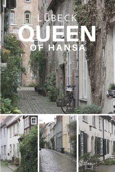 Gatelangs i Lübeck, dronningen av Hansabyene. Byen med de syv tårn. #CitybreakGermany Queen of Hansa, streets of Lübeck