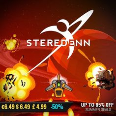 Sila Games summer sale #gamedeals Steredenn -50% Off $6.49 6.49 4.99 http://ift.tt/2cvRsNZ #plugindigital #pcgaming #pcgamer #gaming #siladeals