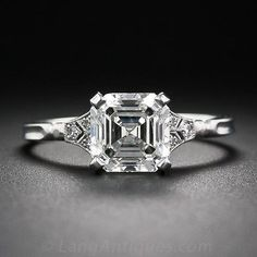2.00 Asscher-Cut Diamond Engagement Ring - 10-1-6105 - Lang Antiques what a beautiful ring!