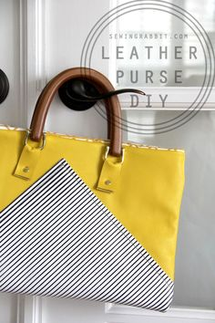 Yellow Leather Purse DIY (Sewing Rabbit)