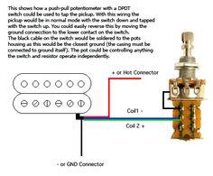 coil splitting humbuckers diy instruments pinterest guitar push pull hardware coil tap push pull