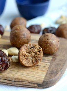 Vegan chocolate chip cookie dough bites with energizing maca, a superfood known for balancing hormones, improving mood and energy and supporting sexual health.