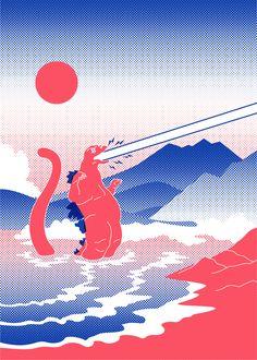 Godzilla, Illustrations, Photo And Video, Videos, Instagram, Illustration, Illustrators