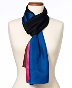Graphic Rays Silk Scarf
