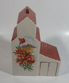 Vintage Saskatchewan Prairie Lily Provincial Flower Ceramic Grain Elevator Coin Bank Prairie Western Collectible Wise Monkeys, Bone Carving, Money Box, Elevator, View Photos, Westerns, Grains, Lily, Ceramics