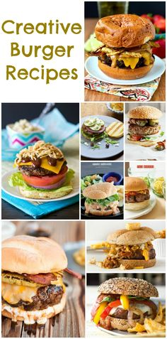 Creative Unique Burger www.momsandmunchk The post Burger Recipes (Unique & Creative Collection) appeared first on Recipes. My Burger, Burger And Fries, Beef Burgers, Good Burger, Veggie Burgers, Beef Recipes, Grilling Recipes, Cooking Recipes, Beste Burger
