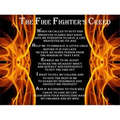 Firefighters Creed