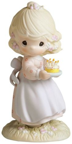 Precious Moments 'May Your Birthday Be A Blessing' Figurine >> Insider's special review you can't miss. Read more  : Home Decor Collectible Figurines