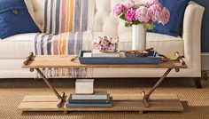 Pipe-Frame Coffee Table by Lowe's Creative Ideas. This is a really fantastic DIY project. Diy Coffee Table, Decor, Home Diy, Table, Industrial Coffee Table, Table Plans, Stylish Tables, Coffee Table, Coffee Table Plans