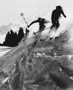 willy ronis • skieurs à megève 1938